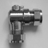 Chrome Angled Isolation / Shut Off Valve 15mm - 07000164